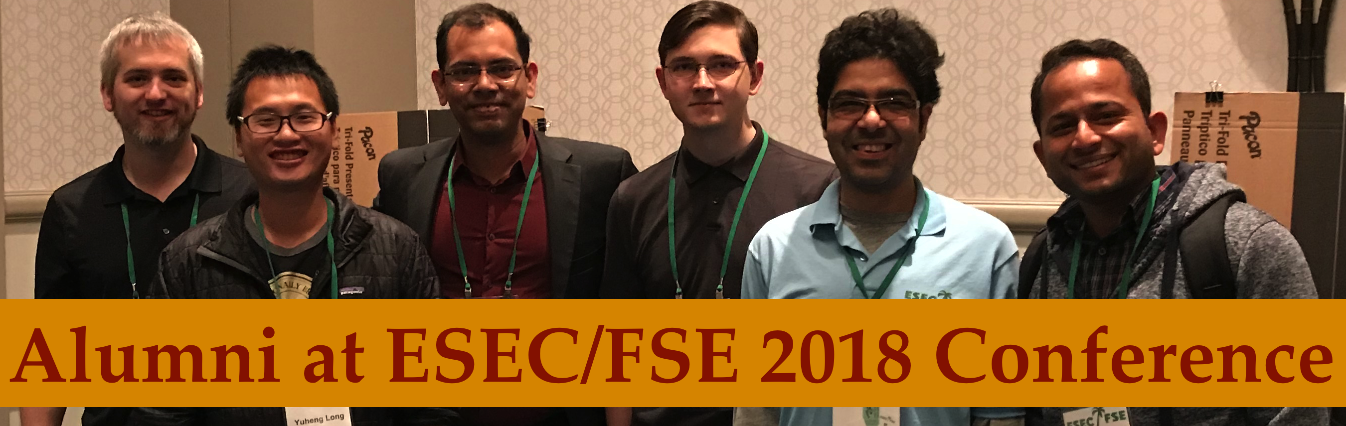 Alumni meet at ESEC/FSE 2018