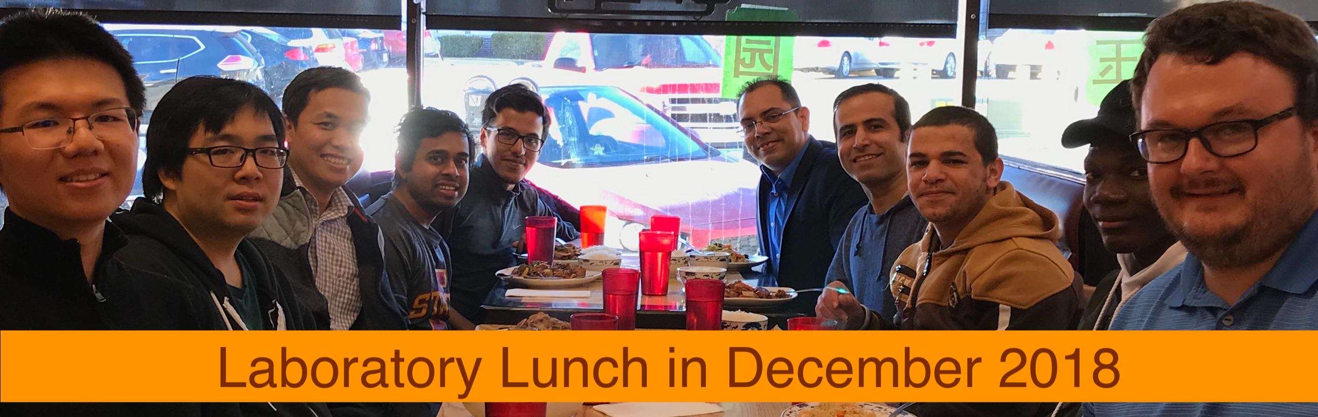 End of the year lunch, December 2018